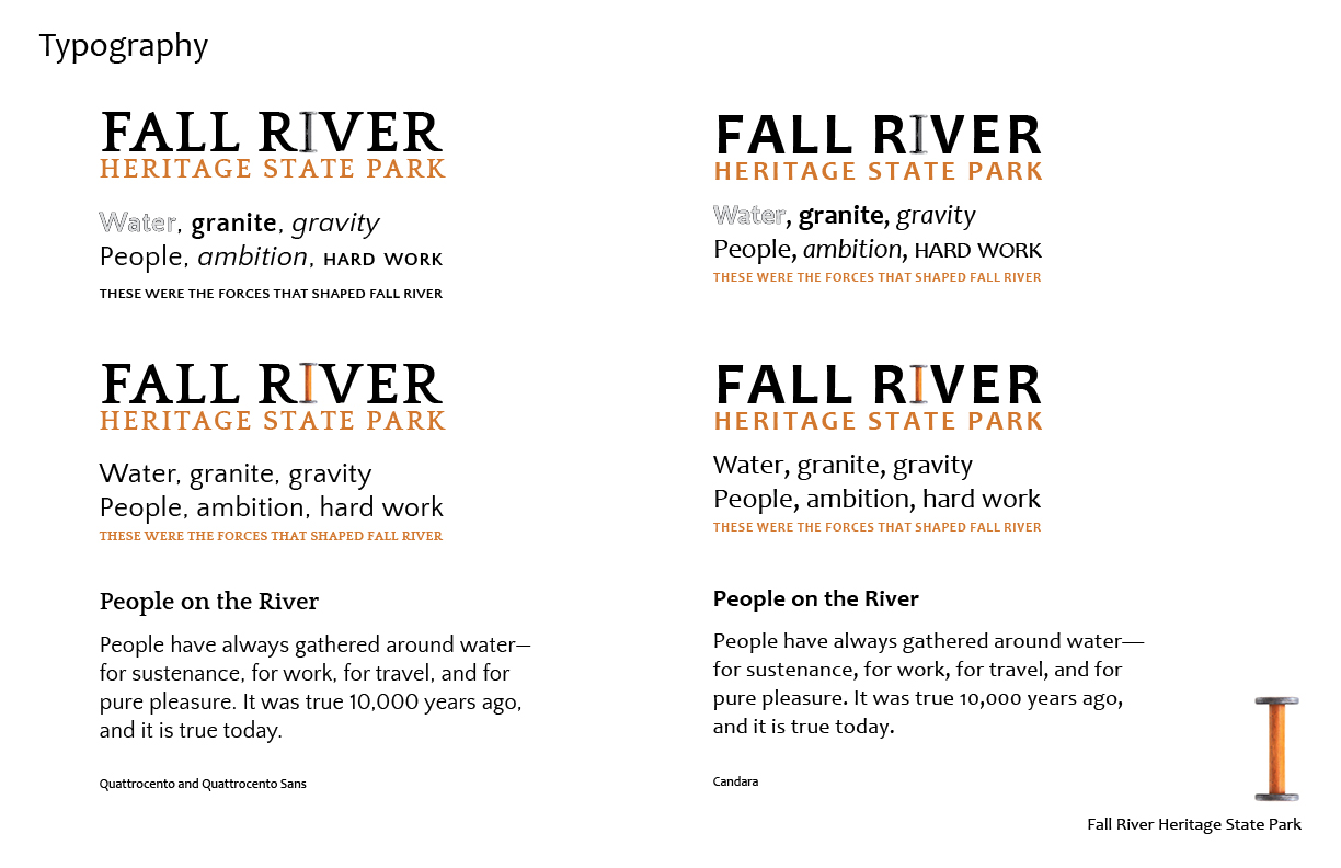 Fall River Heritage State Park Typography