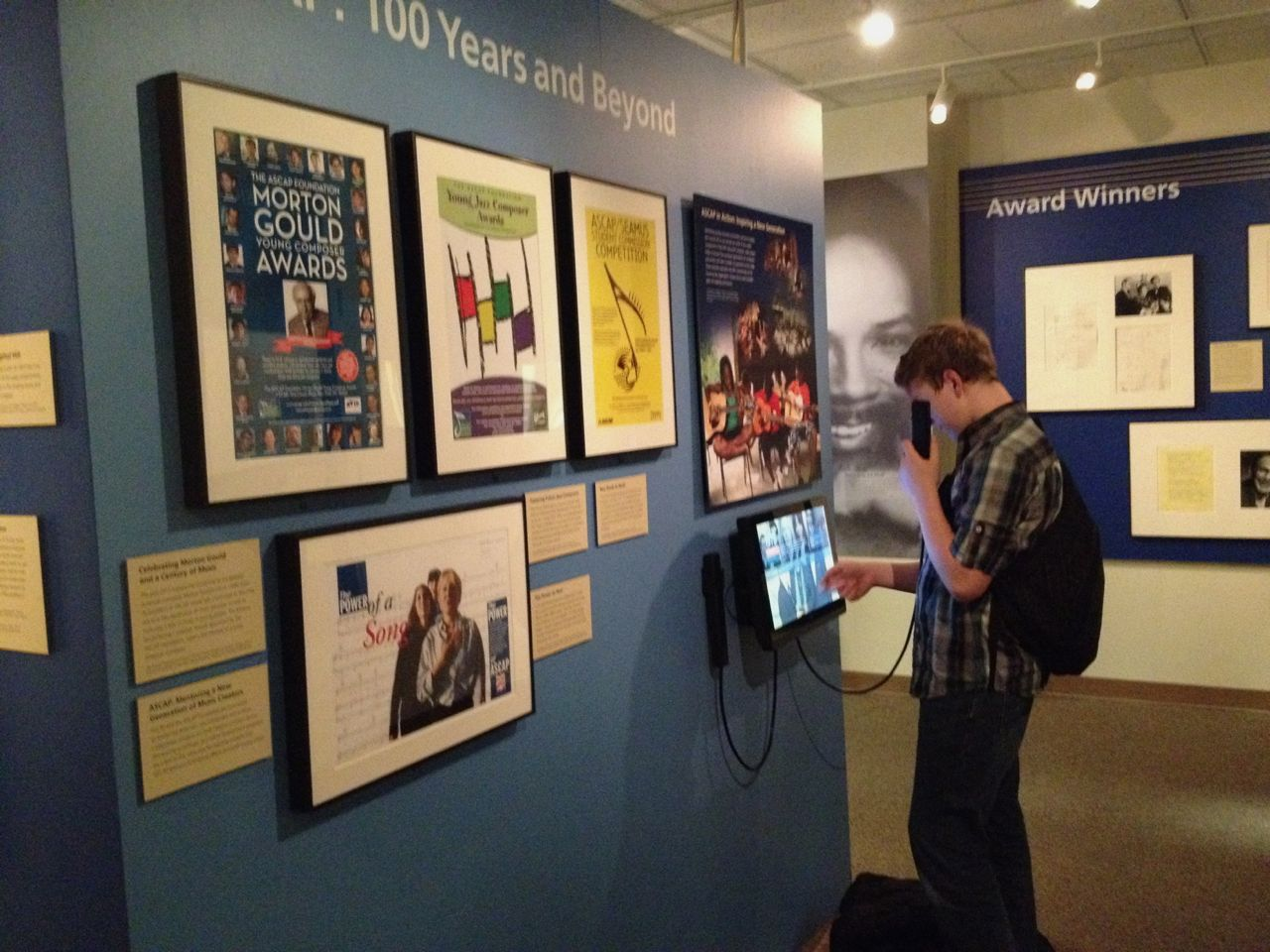 Library of Congress - exhibit celebrating the 100th anniversary of the American Society of Composers, Authors, and Publishers