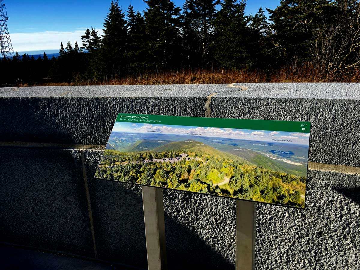 Greylock North View Wayside Panel