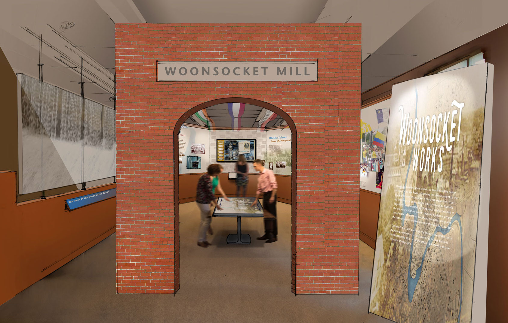 Woonsocket Works a new exhibit under development at the Museum of Work & Culture