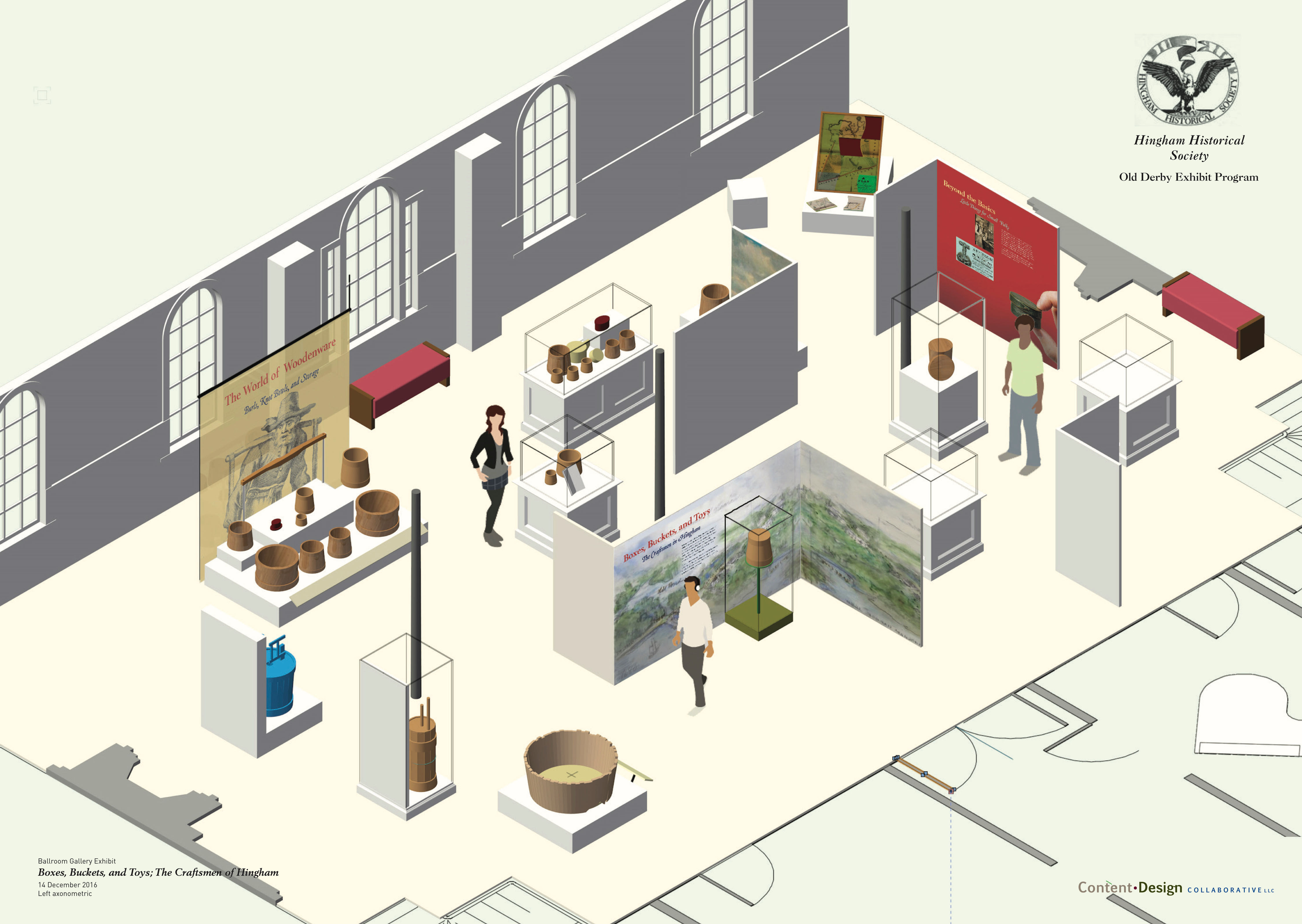 Ballroom Gallery Exhibit, introduction view