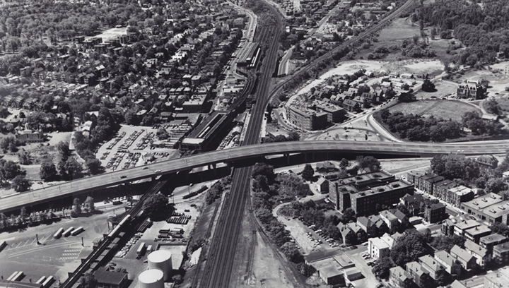 Aerial of Casey overpass