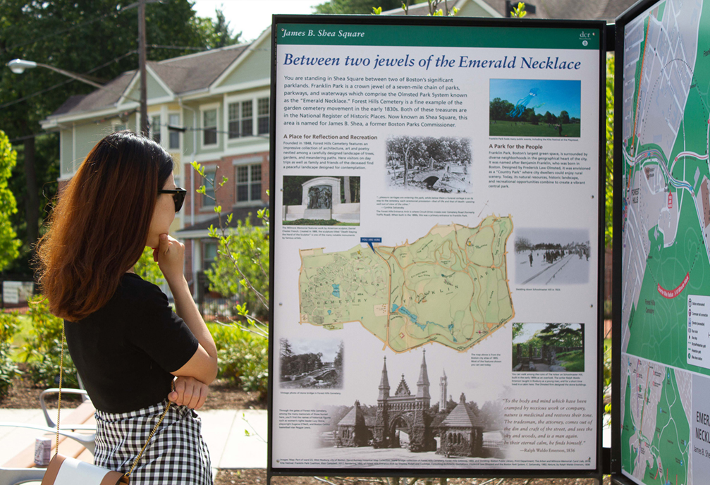 Shea Square interpretive panel